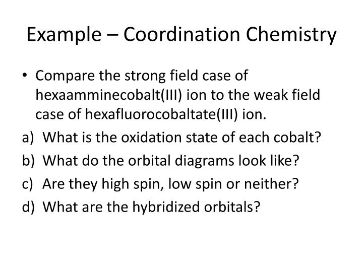 Ppt Chemistry 142 Chapter 24 Transition Metals And Coordination