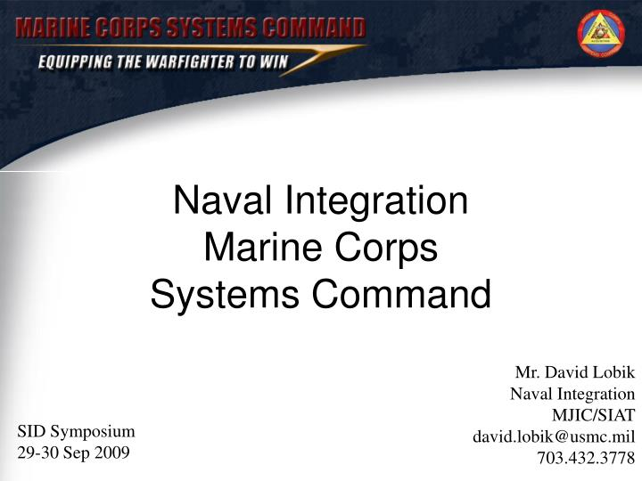 Naval integration marine corps systems command