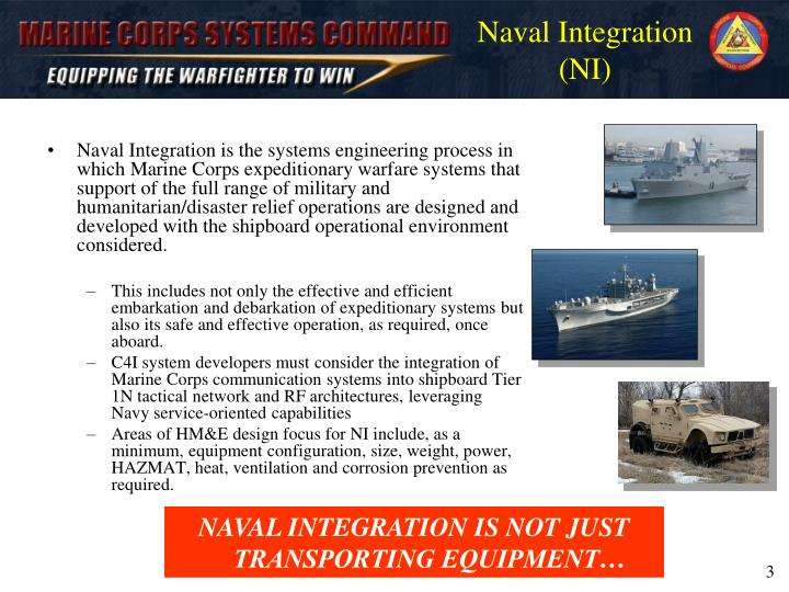 Naval integration ni