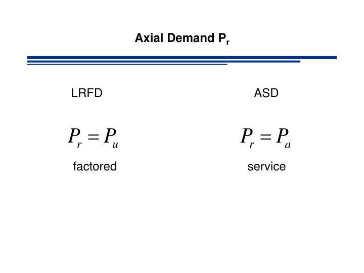 Axial Demand P