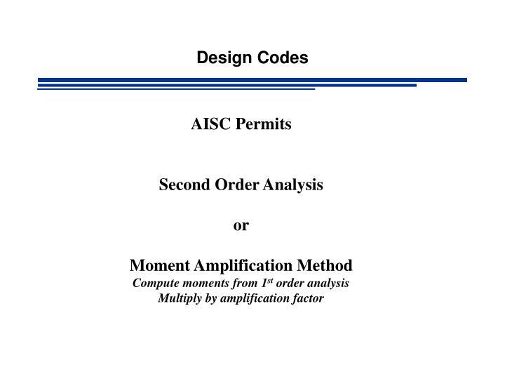 Design Codes