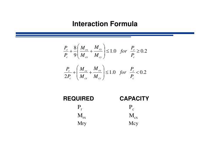 Interaction formula
