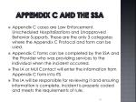 appendix c and the ssa