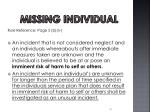 missing individual