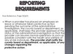 reporting requirements4