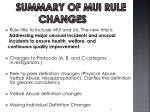 summary of mui rule changes