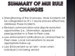 summary of mui rule changes1