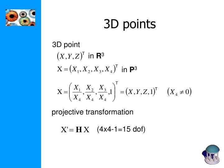 3D points