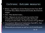 cochrane outcome measures