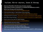 youtube mirror neurons boxes therapy