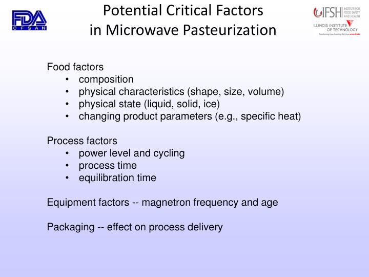 Potential Critical Factors