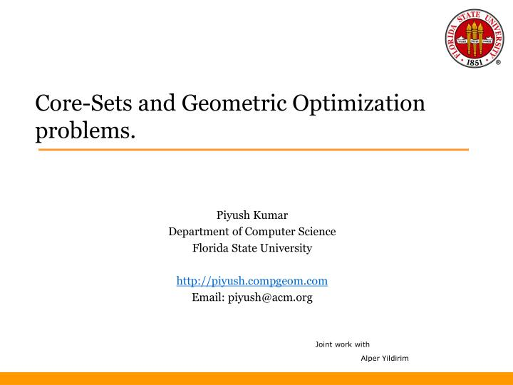core sets and geometric optimization problems n.
