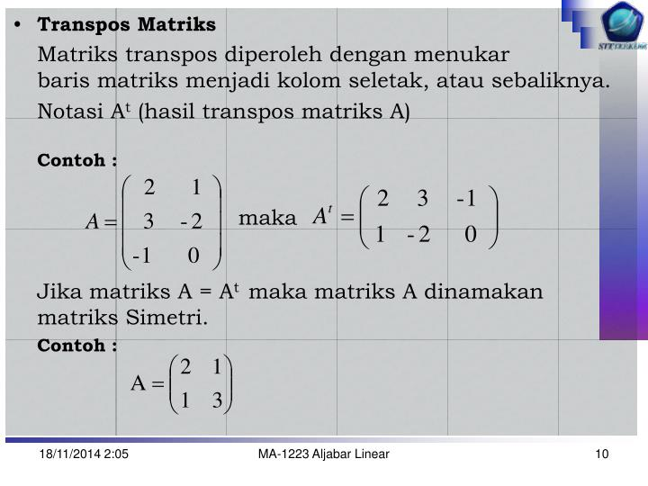 Transpos Matriks