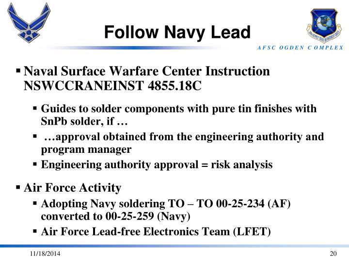Follow Navy Lead