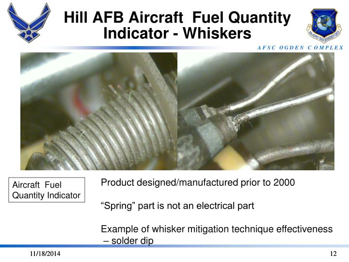 Hill AFB Aircraft  Fuel Quantity Indicator - Whiskers