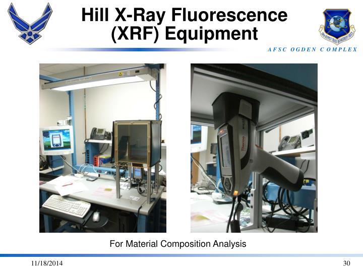 Hill X-Ray Fluorescence (XRF) Equipment