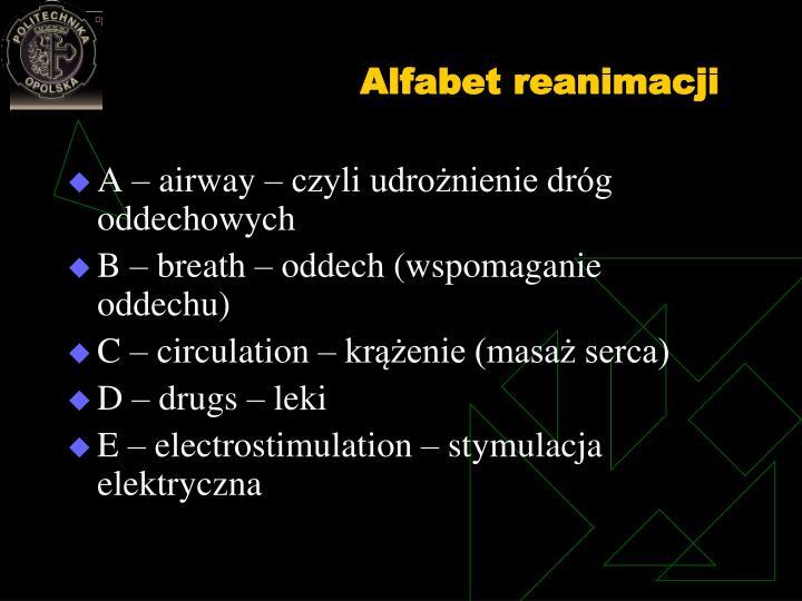 Alfabet reanimacji