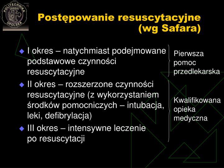 Postępowanie resuscytacyjne (wg Safara)