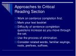 approaches to critical reading section