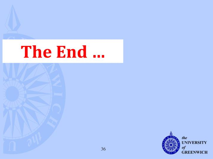 The End …