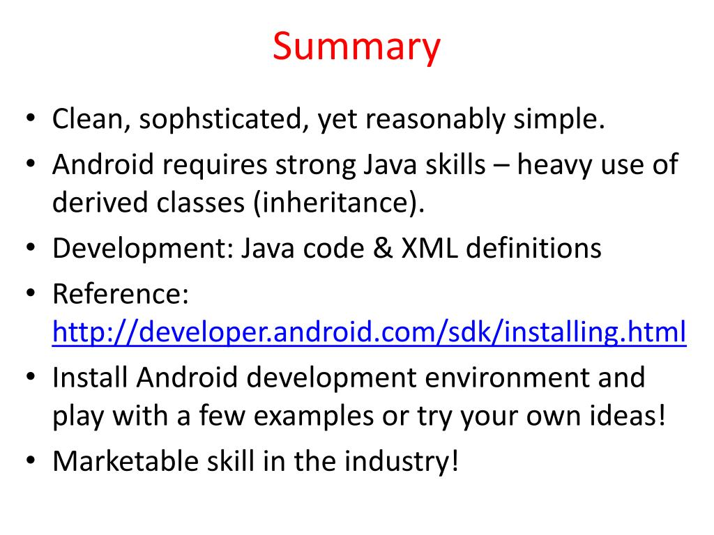 PPT - Android OS : Core Concepts PowerPoint Presentation - ID:6758404