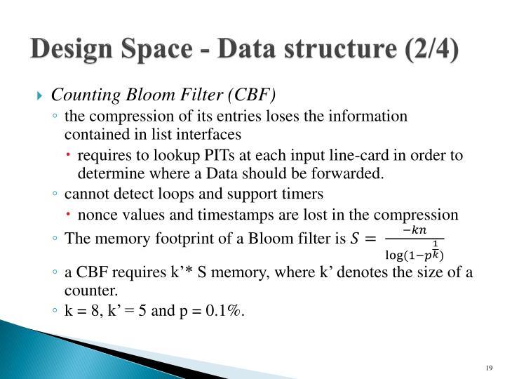 Design Space - Data structure