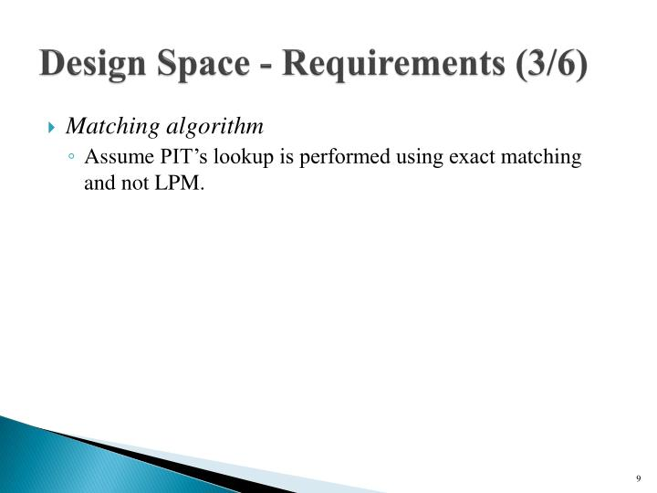 Design Space - Requirements