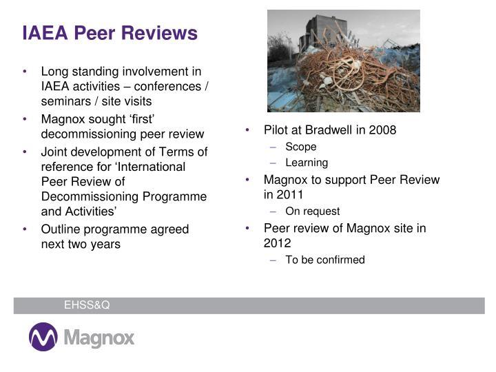 IAEA Peer Reviews