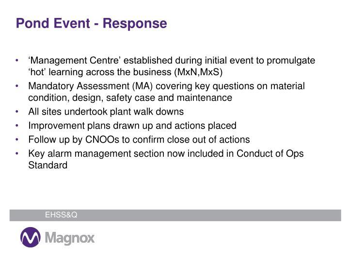 Pond Event - Response