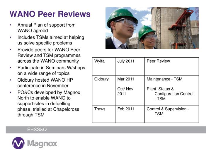 WANO Peer Reviews