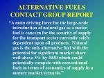 alternative fuels contact group report