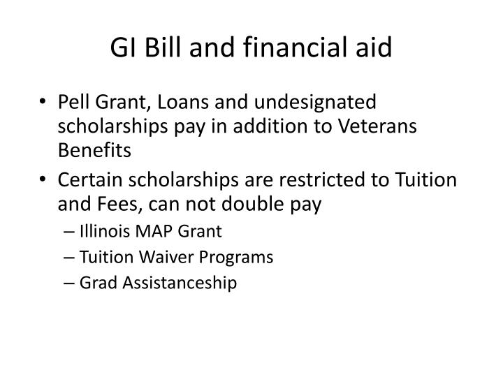 GI Bill and financial aid