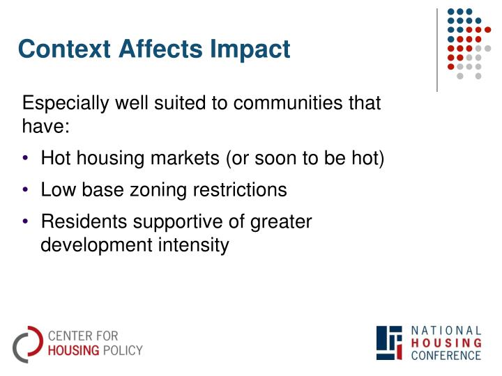 Context Affects Impact