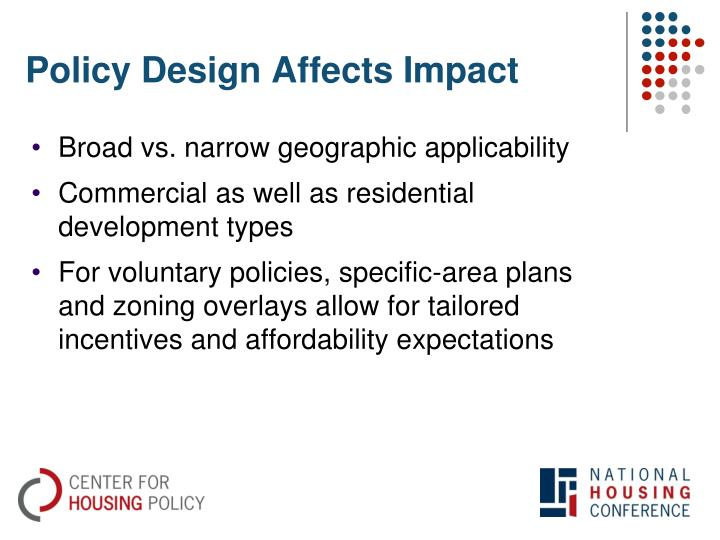 Policy Design Affects Impact