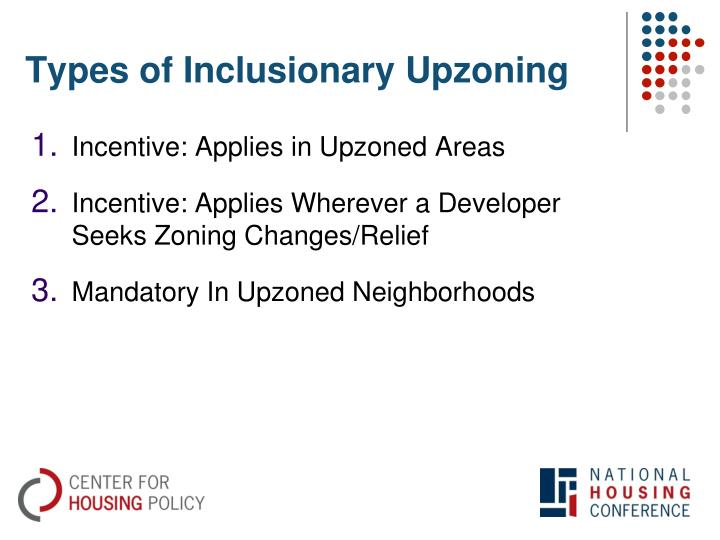 Types of Inclusionary