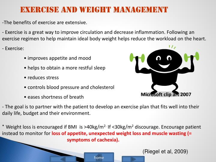 Exercise and Weight Management
