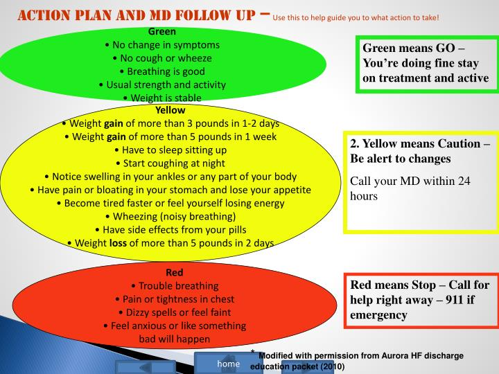 Action Plan and MD follow up