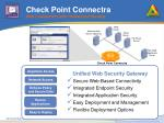 check point connectra web connectivity with unmatched security