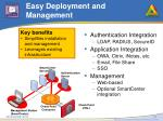 easy deployment and management