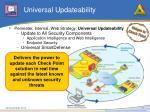 universal updateability
