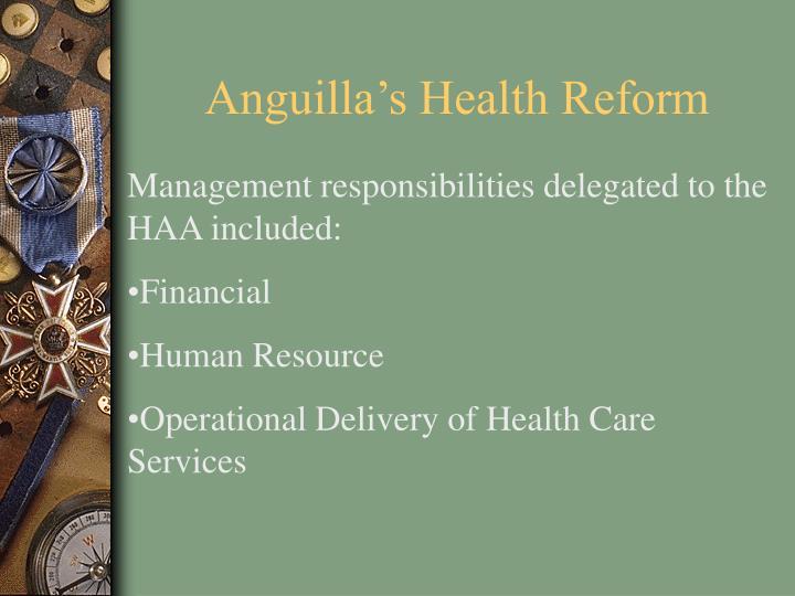 Anguilla's Health Reform