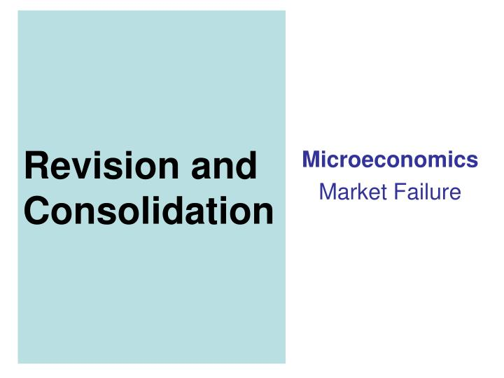 the sources of market failure Market failure is the failure of the free market to allocate goods in an efficient manner in a free market economy, there are many types of market failure this economics paper focuses on three main types of market failure, namely: externalities, both positive and negative, public goods, and imperfect competition in the market.