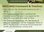 nrcs nhq framework timelines