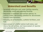 watershed level benefits