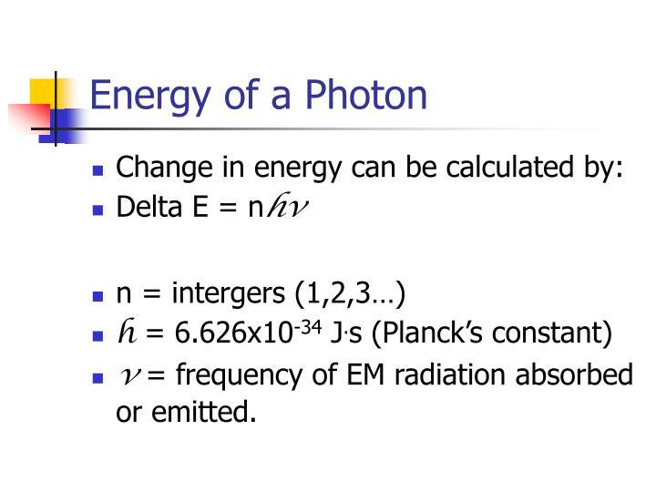 Energy of a Photon