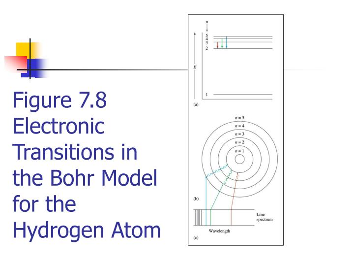 Figure 7.8  Electronic Transitions in the Bohr Model for the Hydrogen Atom