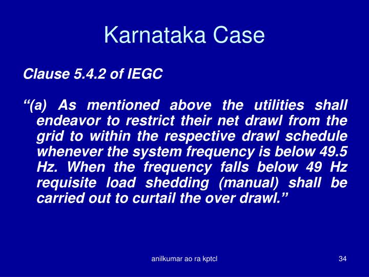 Karnataka Case