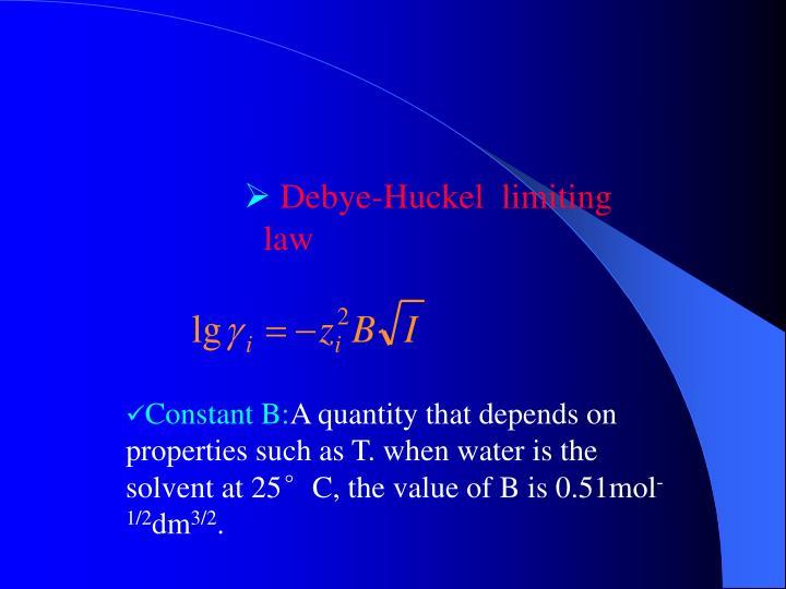Debye-Huckel  limiting law