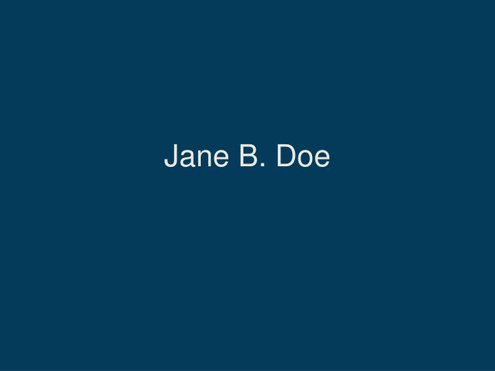 Jane B. Doe