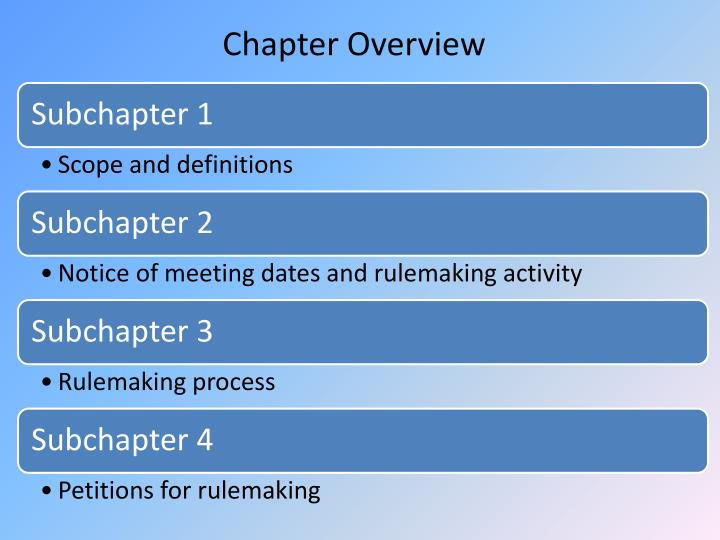 Chapter Overview